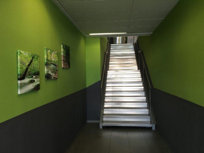 Aufgang in Karlsruhe